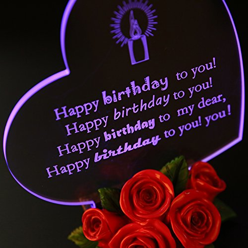 Giftgarden Birthday Cake toppers LED Decor for Friends Gift