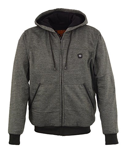 Milwaukee Performance Mens Zipper Front Heated Hoodie w/Rechargeble Battery Pack Included (Grey, Medium)