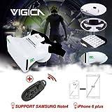 VIGICA Aktualisierte Version RIEM III 3D VR Brillen Virtuelle Realität Headset Videobrillen Movies und Games Goggle Cardboard mit Bluetooth Gamepad 3.5-6.0 zoll iPhone Android Smartphones