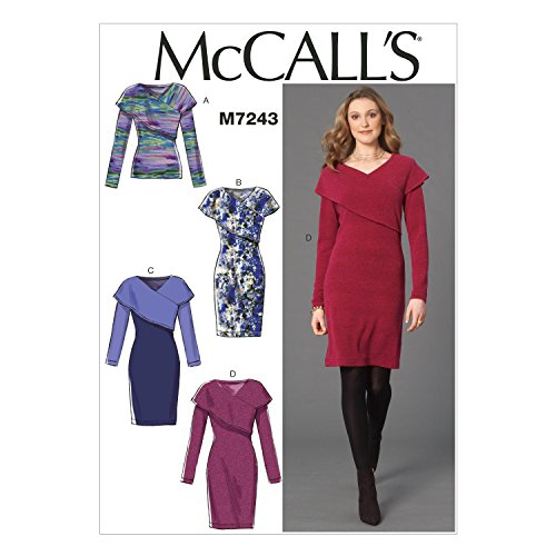 (McCall's Patterns M7243 Misses' Top & Dresses, AX5 (4-6-8-10-12))