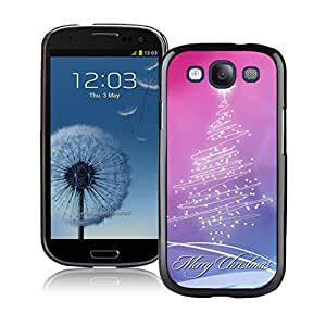 S3 Case,Pink Purple Stars Christmas Tree Silicone Black Samsung Galaxy S3 Case,S3 I9300 Protective Case