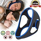Anti Snoring Chin Straps,Ajustable Stop Snoring Solution Snore Reduction Sleep Aids,Anti Snoring Devices Snore Stopper Chin Straps for Men Women Snoring Sleeping Mouth Breathers