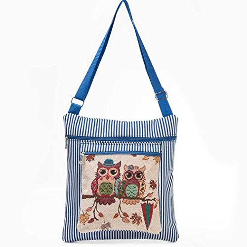 Women Handbag Printed Owl Single Paymenow Daily Casual Small Adjustable Strap Blue with Tote Shoulder qFUnp