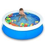 LQQGXL,Bath Family Swimming Pool Baby Inflatable Swimming Pool Ocean Ball Pool Play Pool Bathtub Take A Bath Gift 150 40cm Blue Inflatable bathtub