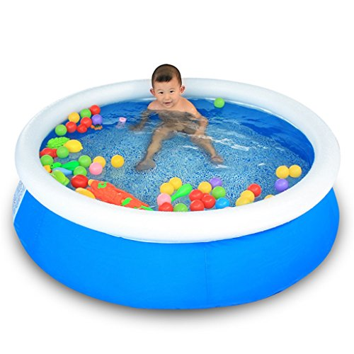 LQQGXL,Bath Family Swimming Pool Baby Inflatable Swimming Pool Ocean Ball Pool Play Pool Bathtub Take A Bath Gift 150 40cm Blue Inflatable bathtub by LQQGXL
