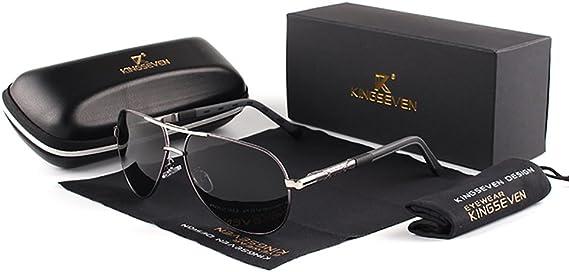 Genuine Kingseven aviator sunglasses men fashion polarized UV400 ultra light Al-Mg
