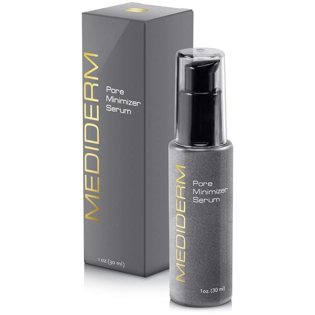 Best Skin Tightening Pore Minimizer Serum For Women & Men – Powerful Natural Pore Shrinking Oil Free Treatment Gel Cream That Shuts Down Pores and Tightens Loose Skin Almost Instantly For a Matte, Shine-Free, Flawless Skin Mediderm Laboratories 7635R