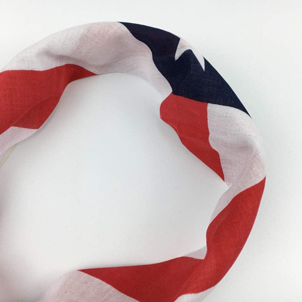 LIOOBO 2 st/ücke Nationalflagge Haarband DIY Tuch Halstuch Platz Schal Hals Kapuze f/ür M/änner Frauen