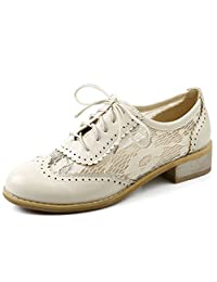 Zanpa Women Casual Lace up Pumps Oxford Shoes with Lace