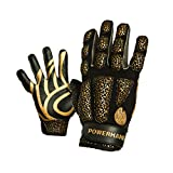 POWERHANDZ Weighted Anti-Grip Basketball Gloves for Strength and Resistance Training - Improve Dexterity and Arm Strength - Large