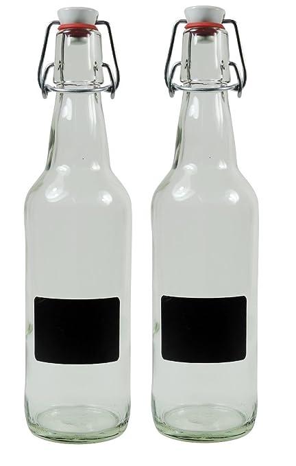 Viva de presupuesto Ware – 2 x sí para Rellenar Botellas de Cristal vacías con Cierre