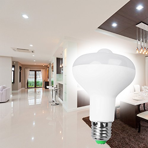QPAU E27 9W 18 LED PIR Motion Sensor Bulb, Warm White - - Amazon.com