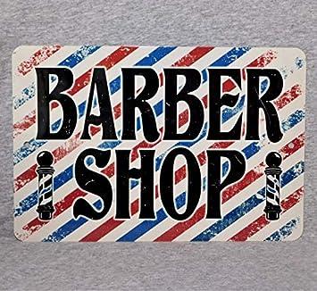 Amazon.com: SWQAA - Placa de pared para peluquería, diseño ...