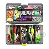Meomeo2356 Soft Plastic Baits Lot 160Pcs / Lot Fishing Lures Kit Mixed Hard Lures Soft Baits Crank Hooks Rolling Swivel Connector Fishing Accessories Set