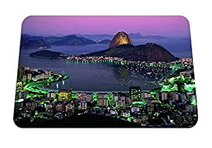 "Rio de Janeiro at Night - Gaming Mouse Pad - Mouse Pad - 10.24""x8.27"" inches"