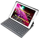 Inateck iPad Keyboard Case for 9.7'' iPad 2018(Gen 6)/iPad 2017(Gen 5) and iPad Air 1 with intelligent magnetic switch,Dark Grey