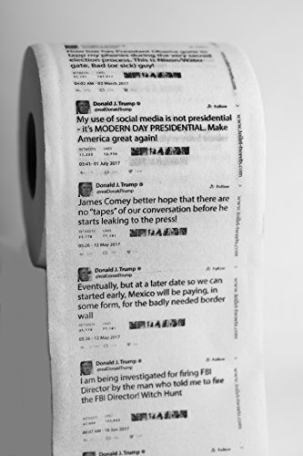Novelty Toilet Paper (Donald Trump Tweets Toilet Paper - Unpresidented Covfefe Collection - Single Roll)