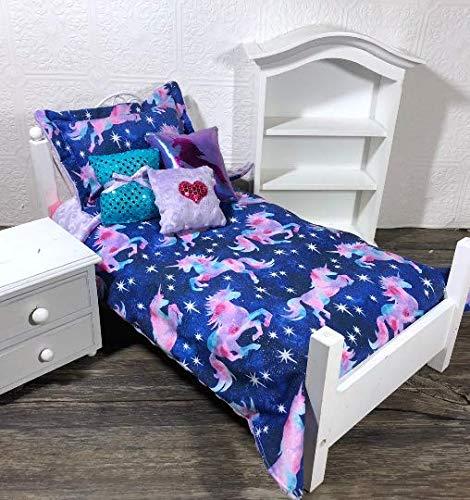Galaxy Unicorn Girl Doll Bedding Set