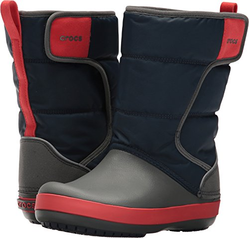 Crocs Kids' LodgePoint Snow Boot K, Navy/Slate Grey, 9 M US