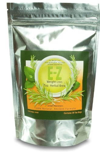 Easy E-Z Herbal Weight Loss Tea - Natural Weight Loss, Body Cleanse and Appetite Control
