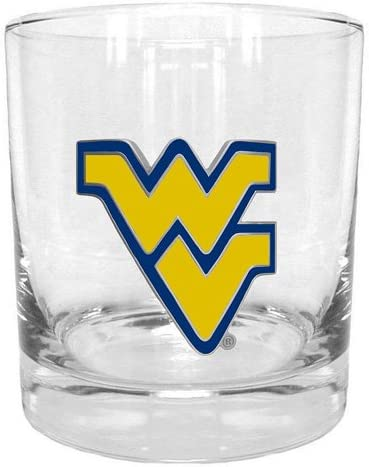 NCAA West Virginia Mountaineers Round Rocks Glass