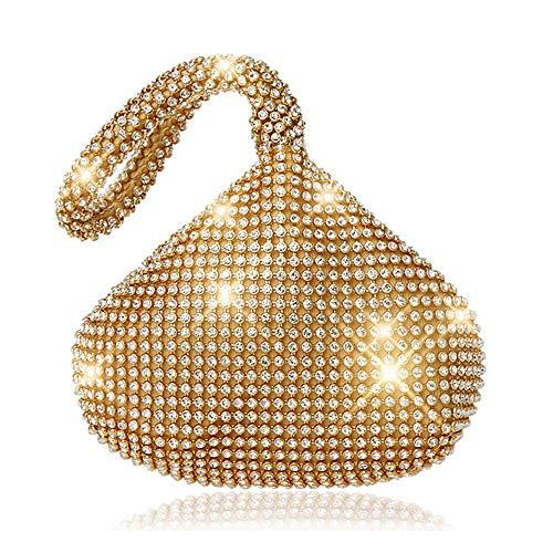 ele ELEOPTION Women Clutch Purse Women's Evening Clutch Triangle Design Full Rhinestones Wedding Purse Handbag for Party Prom Wedding Purse (Rhinestones ()