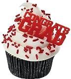 Congrats Grad Red Cupcake Picks (24-Pack)