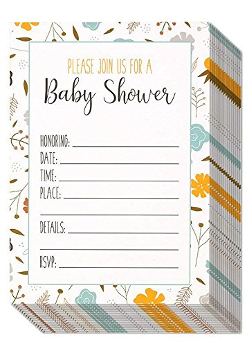 Best Paper Greetings 50 Pack Baby Shower Invitations