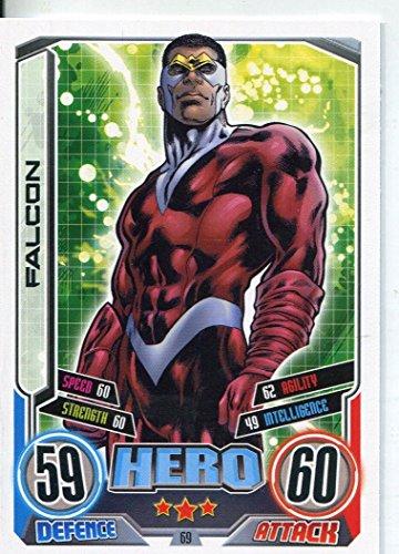 Marvel Hero Attax Series 2 Base Card #69 Falcon