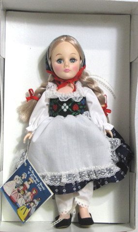 (Effanbee 1986 Inc - Storybook Collection - Heidi Doll - 11 Inches - Blonde Hair Braided - Out Production - Like New - Very Rare - Collectible)
