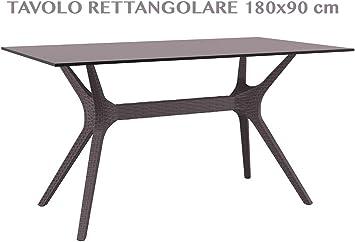professional IBIZA TABLE 140 Table rectangulaire de jardin ...