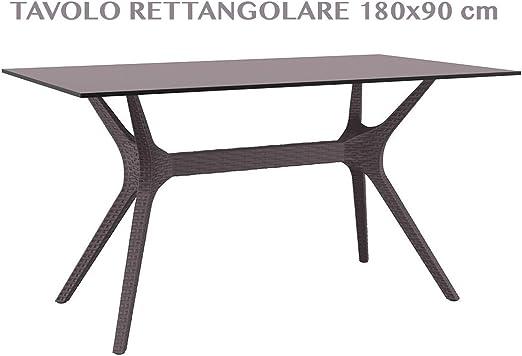 professional IBIZA TABLE 140 Mesa rectangular de jardín efecto ...
