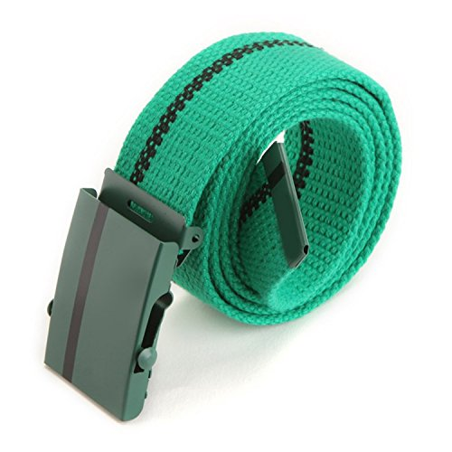 Price comparison product image Eric HugFashionBelt Fashion Men Women Lady Leisure Belts Joker Canvas Wide Belt Multicolor Green