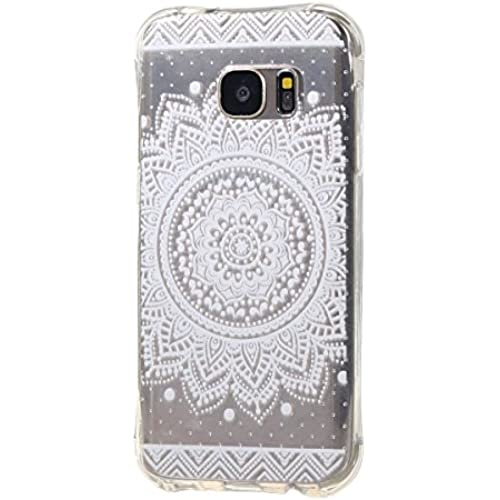 Case for Samsung Galaxy S7, Weline Henna Floral Pattern Hybrid Case Scratch Resistant and Shock Absorbing TPU Sales