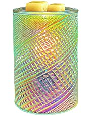 Electric Wax Melt Warmer Glass 3D Decor Candle Holder Light Lighting Fragrance Scentsy Oil Burner with Timer for Gift Christmas Halloween Office Living Room Home Bedroom Wedding (Color : 1PCS)