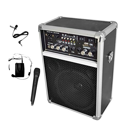 SOUND AROUND-PYLE INDUSTRIES PWMA170 Dual Channel 400 Watt Wireless PA System with USB-SD-MP3 2 VHF Wireless Microphones by Sound Around Electronics
