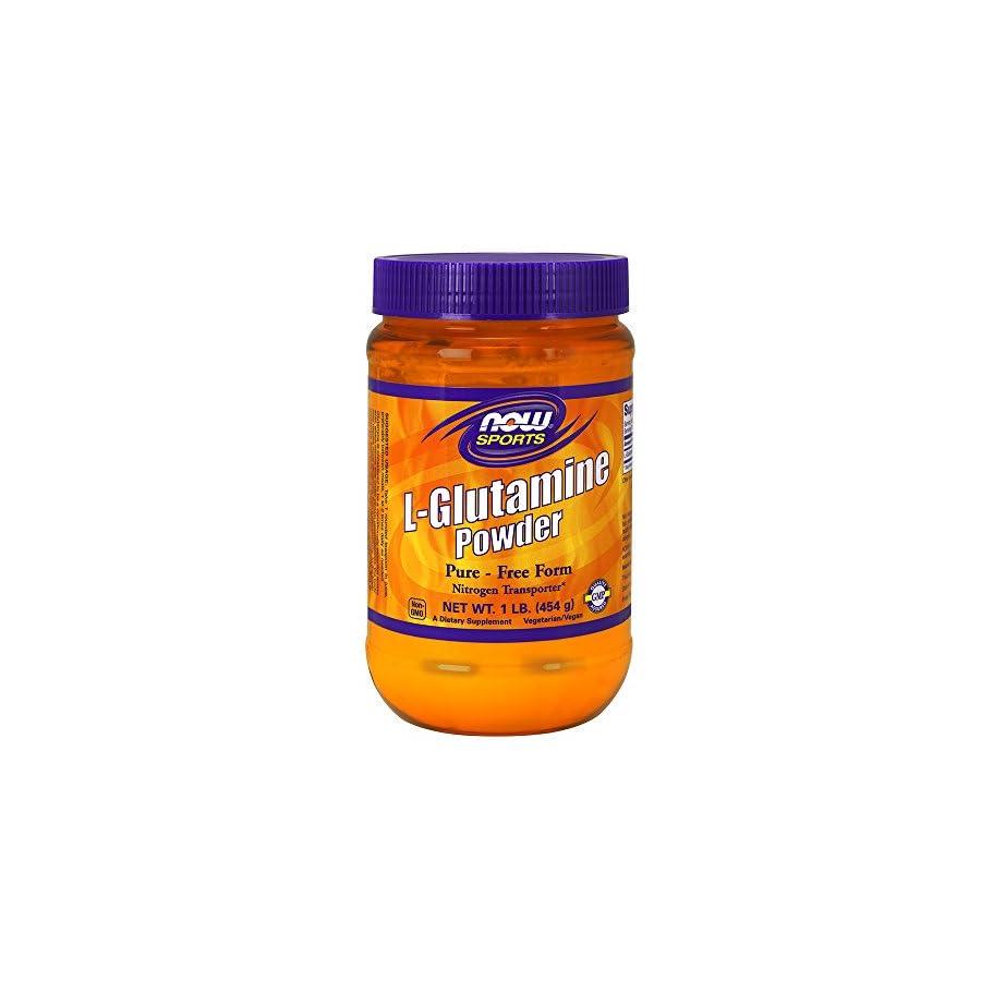 NOW Foods L Glutamine Pure Powder, 1 Pound