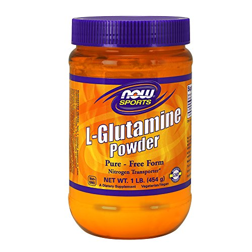 NOW  Sports L-Glutamine Powder, 1-Pound (Now Foods L-glutamine Powder)