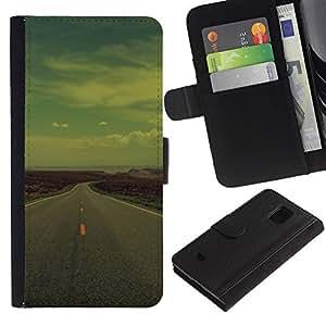 Stuss Case / Funda Carcasa PU de Cuero - Open Road EE.UU. - Samsung Galaxy S5 Mini, SM-G800