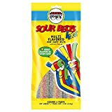 Paskesz Sour Belts Multi Flavored Sour Candy 4 Oz. Pack Of 3.
