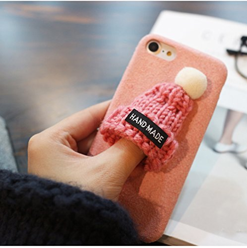 iphone 6 Plus 5.5 Funda para Apple 6 Plus Carcasa - Sunroyal® PC Plástico Dura Interior , Xmas Felpa Plush Sombrero Hat Flexible Ultra Slim Fit Cáscara Alta Calidad Sleeve Rígida Caso Parachoques Bum A-05