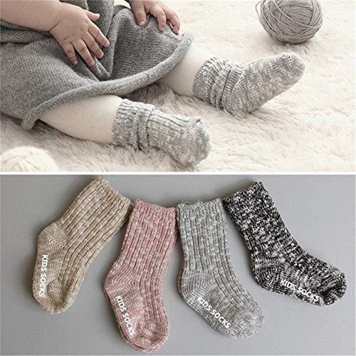Gray, Medium Baby Socks New Lovely Soft Newborn Toddler Infant Kids Socks 0~24 Months Childrens Socks for Girl Boy Fashion Baby Sokken