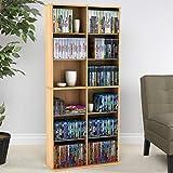 Atlantic Oskar Adjustable Media Cabinet - Holds 464 CDs, 228 DVDs or 276 Blu-Rays, 12 Adjustable and 4 Fixed Shelves PN38435720 in Maple