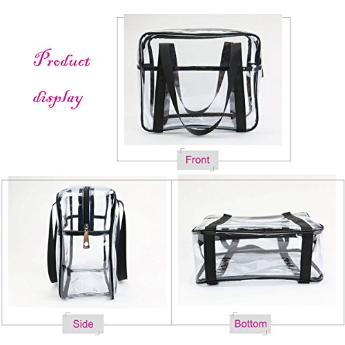 a88f62259c52 ONEGenug Clear Toiletry Bag Thick Transprent Cosmetic Bag Waterproof Makeup  Artist Large Bag Organizer Storage Easy Clean