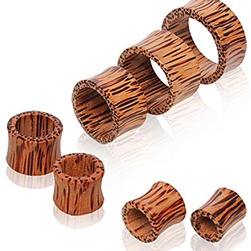 Coconut Wood Tunnel Plug - 9/16