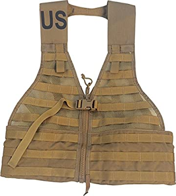DingDong HO MOLLE II Fighting Load Carrier Load Bearing Vest (FLC) Made in USA (Coyote Brown)