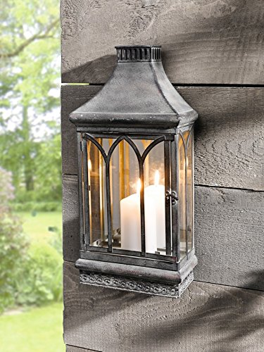 - PierSurplus Wall Mount Mirror Candle Lantern, Clear Glass Product SKU: CL229360
