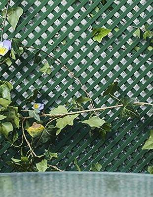 Jardin202 1 x 2 Metros - Celosía Fija de PVC - 18mm - Verde: Amazon.es: Jardín