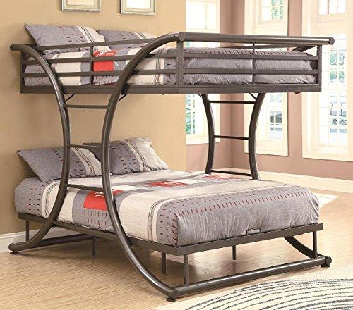 Stephan Full over Full Bunk Bed Gunmetal (Full Over Full Bunk Beds For Adults)