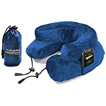 "CABEAU ""Air Evolution"" Inflatable Neck Pillow + Small Bag - It Works! - CABEAU BLUE"